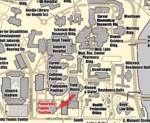 Braley Auditorium map JPG   Human Subjects Office