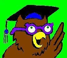 Graphic shops owl wearing mortarboard and glasses