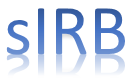 sIRB logo in blue