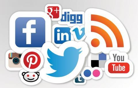 various social media logos